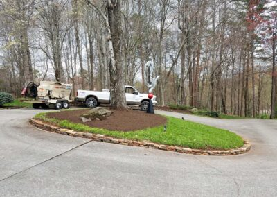 Mulch Blowing 36